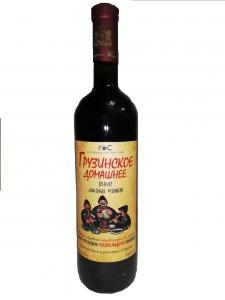 """Вино столовое """"Грузинское домашнее вино"""" красное п/сл 10,5-12,5% 0,75 л."""