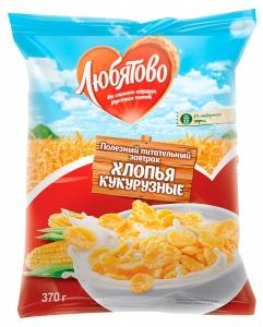 """Хлопья кукурузные """"Любятово"""" 370 г"""