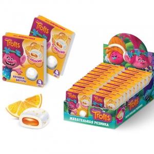 """Жевательная резинка с начинкой ГУДФрукт """"Тролли"""" со вкусом апельсина 13 гр."""