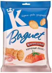 """Сухарики """"Кириешки"""" Baguet со вкусом копченого лосося 50гр"""