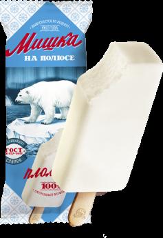 """Мороженое """"Мишка на полюсе"""" эскимо пломбир ванильный 70гр."""