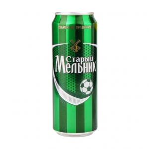 """Пиво """"Старый Мельник"""" Светлое 4,6% (ж.б. 0,45 л)"""