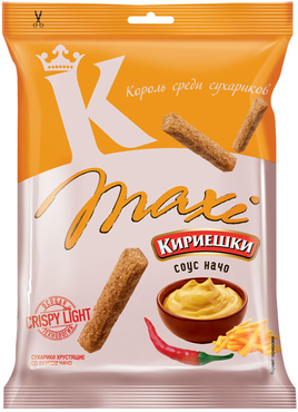 """Сухарики """"Кириешки"""" Maxi начо 60гр"""