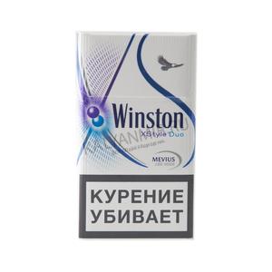 """Табачный набор сигареты с фильтром """"Винстон Икс Стайл дуал"""" с кнопкой и спички"""