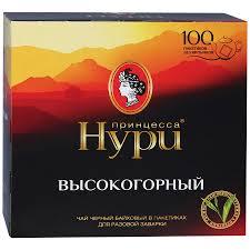 """Чай """"Принцесса Нури"""" Высокогорный чёрный 100пак."""