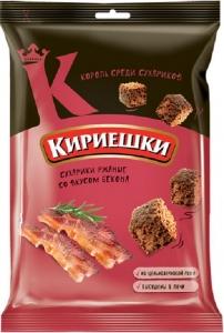 """Сухарики солёные """"Кириешки"""" со вкусом бекона 100 гр."""