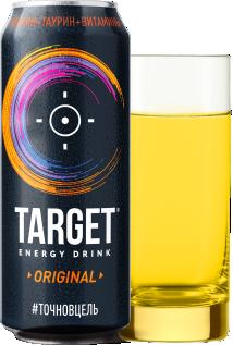 """Напиток безалкогольный энергетический """"Таргет"""" оригинальный  ж/б 0,45л."""