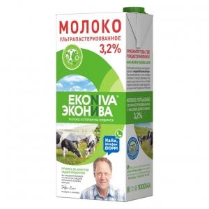 """Молоко ульт.паст.""""Эконива"""" 3,2% т/п 1000 мл."""