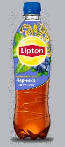 Холодный чай Lipton Ice Tea со вкусом черники (ПЭТ 0.6 л)