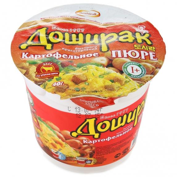"""Картофельное пюре """"Доширак"""" быстрого приготовления со вкусом ГОВЯДИНЫ 40 г"""