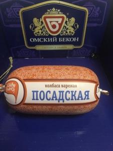 """Колбаса """"Посадская"""" вареная (Омский бекон) 450 гр."""