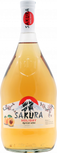 """Вино фруктовое (плодовое) полусладкое """"Праздник Сакуры"""" Абрикосовое 1 л"""