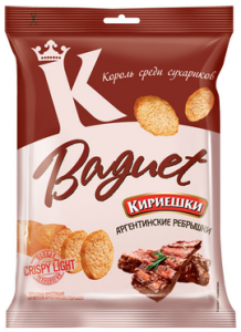 "Сухарики ""Кириешки"" Baguet со вкусом аргентинских рёбрышек"