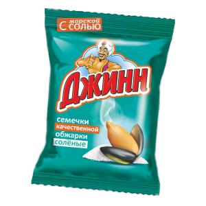 """Семечки """"Джинн"""" солнечный великан полосатые 300 гр."""