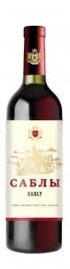 """Вино столовое полусухое красное """"Саблы"""" 12% 0,75 л."""