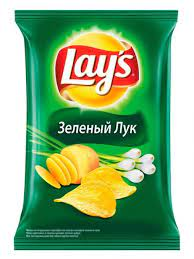 "Чипсы ""Лейс"" зеленый лук 50 гр."