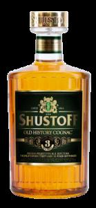 "Коньяк ""Шустов"" (Shustoff Old History) трехлетний 0,5л."