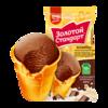"""Мороженое """"Золотой Стандарт"""" Стаканчик пломбир шоколадный 86 г"""