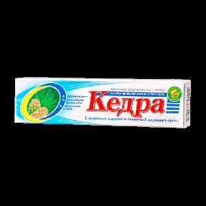 """Паста зубная """"Кедра"""" с кедровым жмыхом и скорлупой кедрового ореха60мл"""