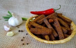 """Сухарики """"Гаринские"""" со вкусом паприка с чесноком вес 1 кг."""