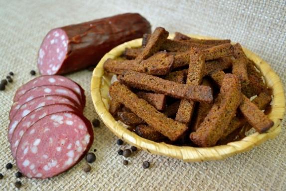 "Сухарики ""Гаринские"" со вкусом салями вес 1 кг."