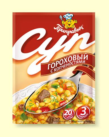 """Суп Гороховый  с копчёностями """"Приправыч """" 60гр"""