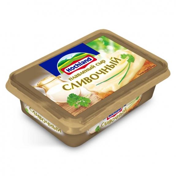 """Сыр плавленый """"Hochland"""" Хохланд сливочный 200 г"""