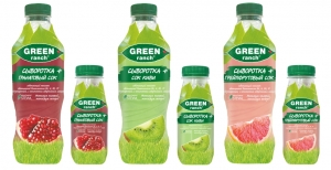 """Коктейль на молочной сыворотке+сок """"Green ranch"""" в ассортименте 930 гр."""