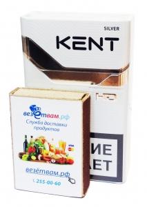 """Табачный набор сигареты с фильтром """"Кент №4"""" и спички"""