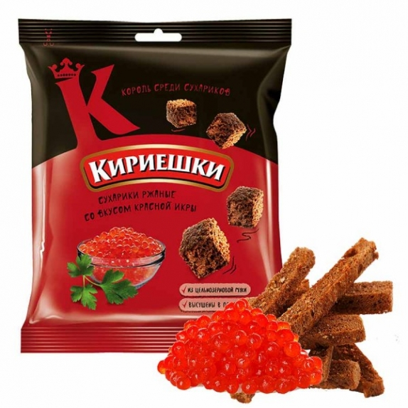 """Сухарики """"Кириешки"""" красная икра 40 гр."""