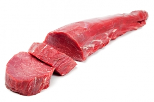Вырезка говядины вес.