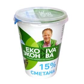 """Сметана """"Эконива"""" 15% 300гр."""