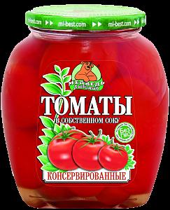 """Томаты """"Медведь Любимый"""" в собственном соку 720 мл"""