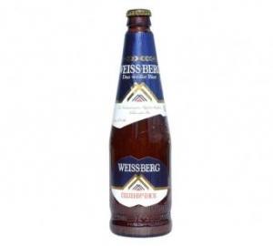 """Пиво """"Вайс Берг пшеничное"""" светлое нефильтрованное ж/б 0,45%"""