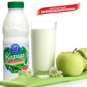 "Кефир ""Томское молоко"" 2,5% бут. 900 гр."