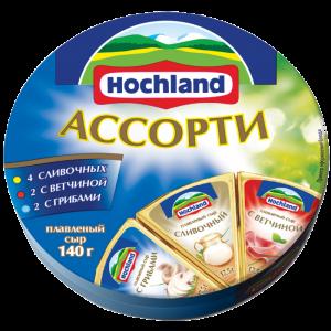"""Сыр плавленый """"Hochland""""  Ассорти классическое трио (Хохланд) 140 г"""