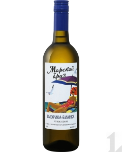 """Вино Кубань """"Виорика-Бианка"""" белое сухое 11-12% 0,7 л."""