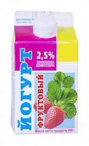"Йогурт ""Ирмень"" земляника 2,5% 450 гр."